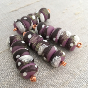 Orchid Branch Disk Beads