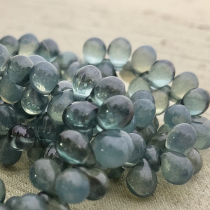 5x7mm Drop Medium Sky Blue and Light Slate Blue Mix