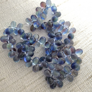 5x7mm Drop Pale Blue and Hyacinth