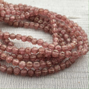 4mm Melon Medium Pink with a Golden Luster
