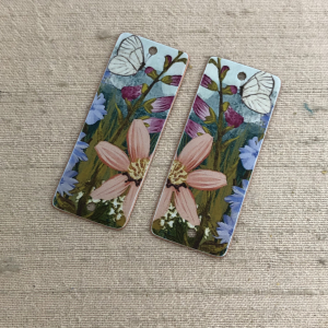 White Butterfly Earring Charms