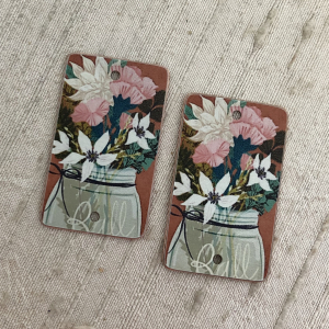 Ball Jar Bouquet Earring Charms