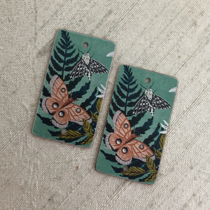 Moth and Fern Earring Charms