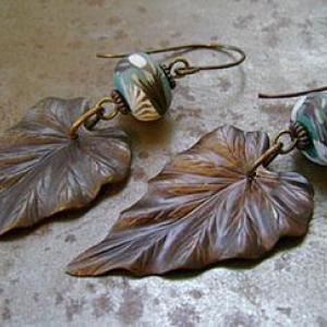 Woodland Leaf Earrings
