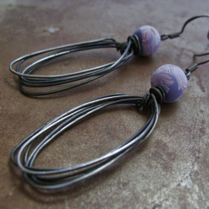 Wire Oval Earrings