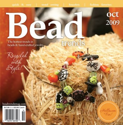 Bead Trends Magazine featuring Humblebeads woodland inspired bead collection.