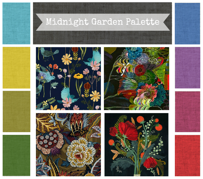 Midnight Garden Beads Color Palette