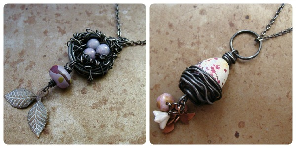 "Create 2 styles of stunning wire nest with egg bead nestled inside in our ""WIrework Class"""