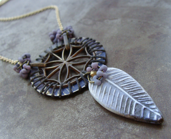 Ombre Feather Pendant